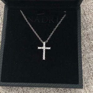 Nadri Cross Pendant Necklace CZ Cubic Zirconia